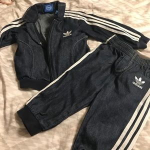 Jean Adidas outfit RARE to find. Size 9-12 months